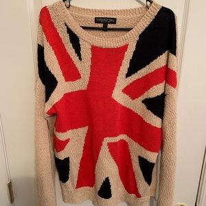 TOPSHOP TALL UNION JACK SWEATER UK FLAG